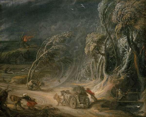 Landscape: A Storm (oil on canvas)