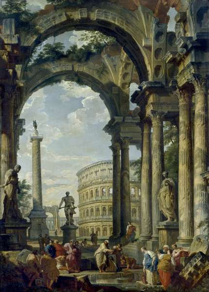 Roman Capriccio, 18th century (oil on canvas)