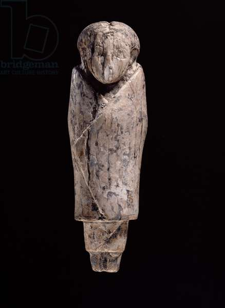Ivory statuette of a woman (carved hippopotamus ivory)