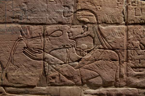 Detail of the Wall of Aspelta, c.680 BC (sandstone)