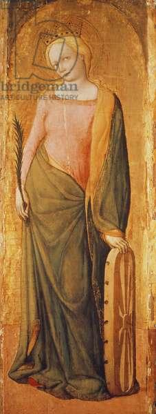 St. Catherine of Alexandria, 15th century (tempera on panel)