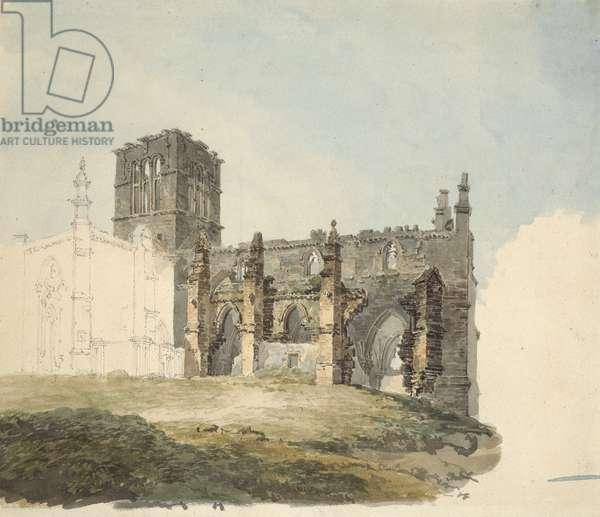 The Ruined Abbey at Haddington, c. 1794 (watercolour over graphite on wove paper)