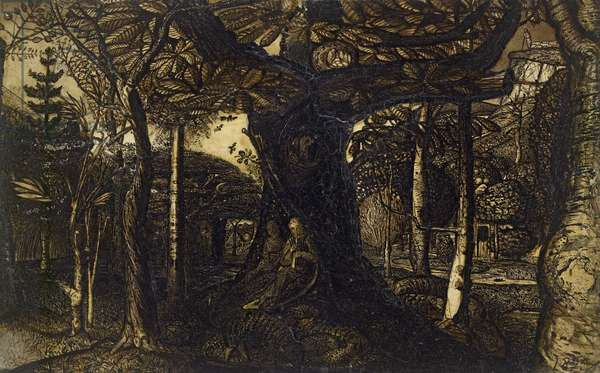 The Skirts of a Wood, 1825 (pen and brush in sepia)