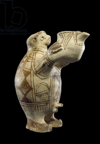 Pottery vessel in the shape of a man pouring a libation, Luristan, Iran, c.800 BC (clay)