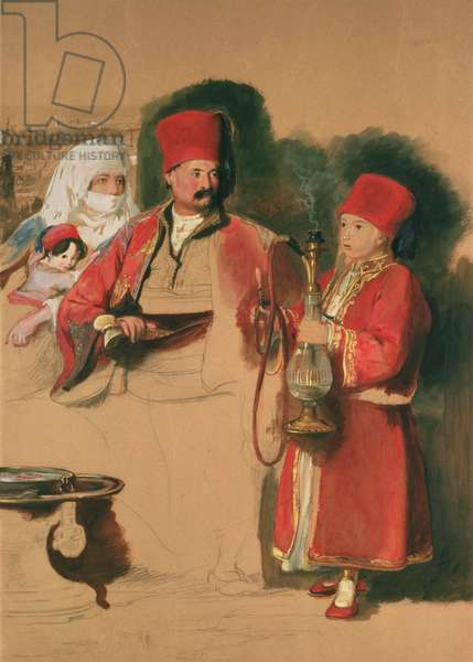 Portrait of Sotiri, 19th century (w/c on paper)