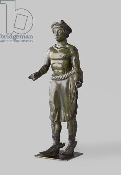 Etruscan bronze statuette of Turms (Hermes) (copper alloy)