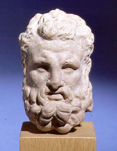 Head of Hercules, Roman copy of a Greek original (marble)