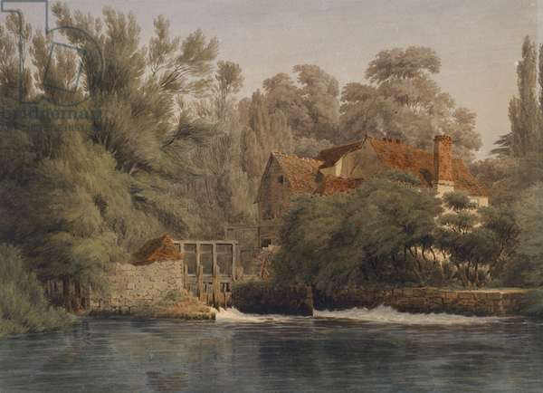 Iffley Mill (watercolour with pen and brown ink)