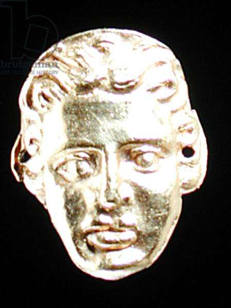 Female head applique (gold)