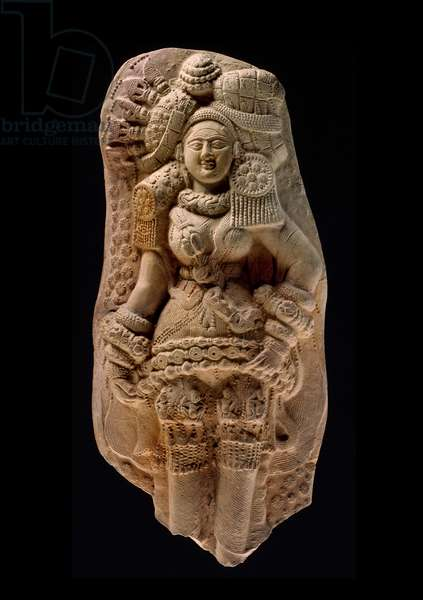 Moulded plaque of a Yakshi, Tamluk, c.200 BC (terracotta)