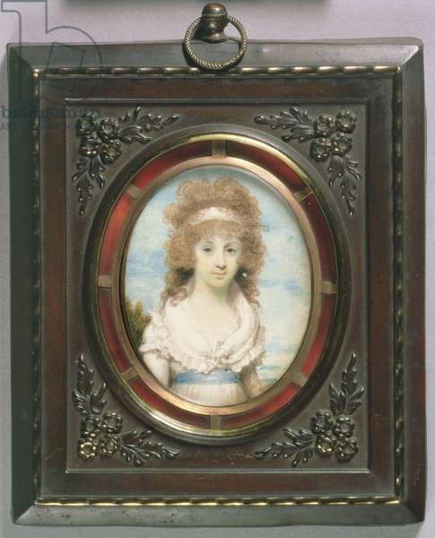 Portrait Miniature of Anna Maria Blunt, c.1795 (w/c on ivory)