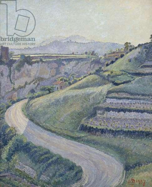 La Nouvelle Route, Cotignac, 1937 (oil on canvas)