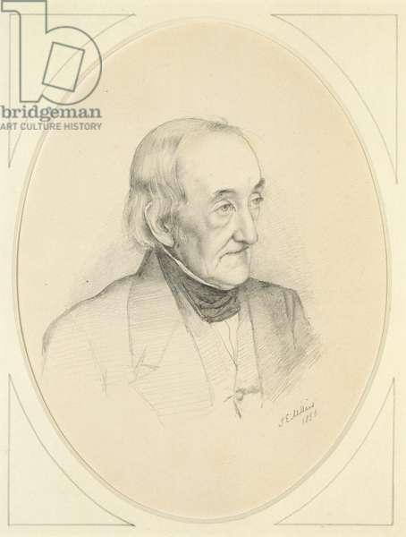 Portrait of William Bennett, 1850 (pencil on off-white paper)