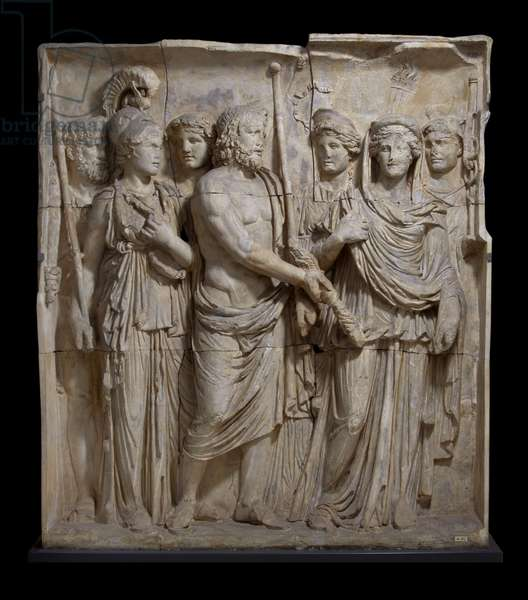 Cast of one of a set of reliefs from Arch of Trajan (A152-4, 170), Beneventum, original dated AD 114 (plaster)