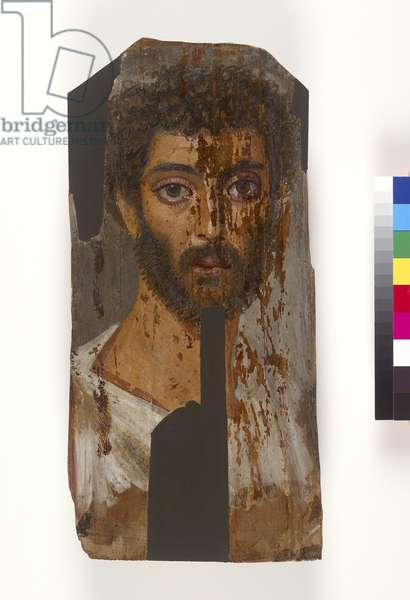 Male mummy portrait, probably 2nd-3rd century AD (encaustic on wood)