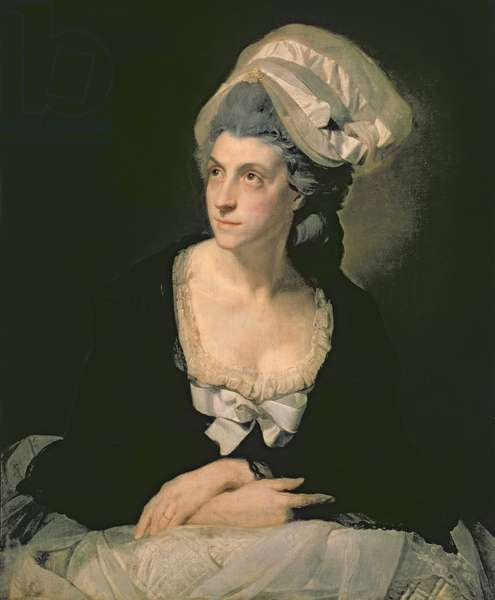 Portrait of Mary Thomas, the Artist's Wife, 18th century (oil on canvas)
