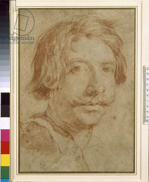 The So-called Self Portrait, 17th century (red chalk on paper)