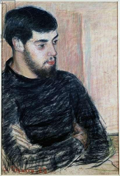 Portrait of Lucien Pissarro (1863-1944), 1883 (pastel)