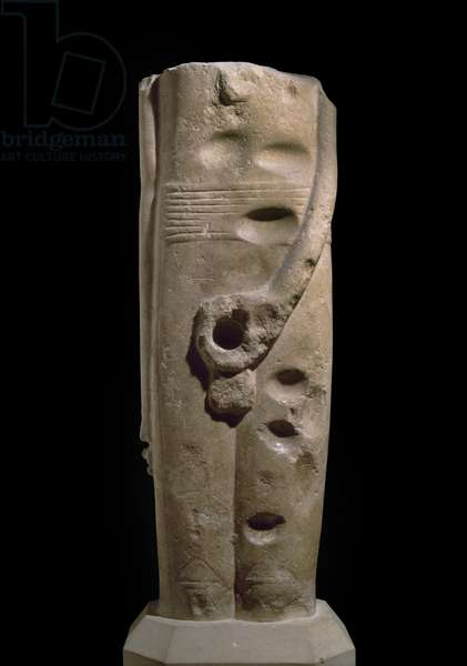Sculpture of the god Min, Hierakonpolis, possibly c.4000 BC (sandstone)