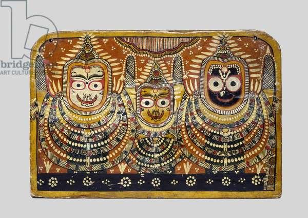 The Jagannath Trio, c.1900 (mixed media on wood)