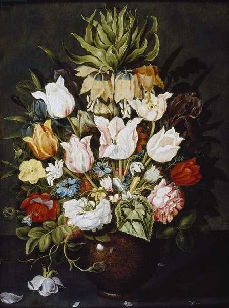 A Vase of Flowers, c. 1616 (oil on panel)