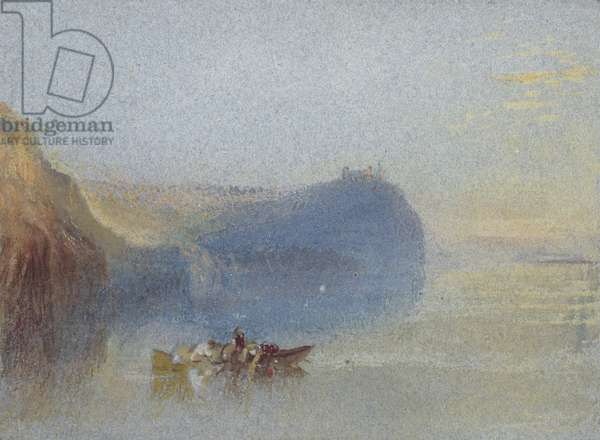 Scene on the Loire, 19th century (w/c on paper)