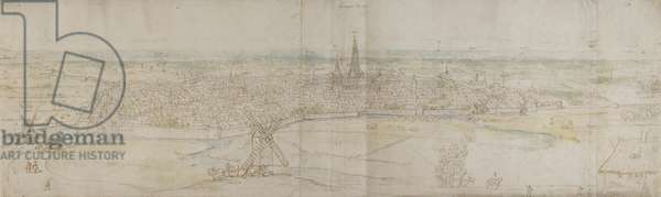Panoramic View of S'Hertogenbosch, c.1545-50 (pen & ink with w/c over chalk)