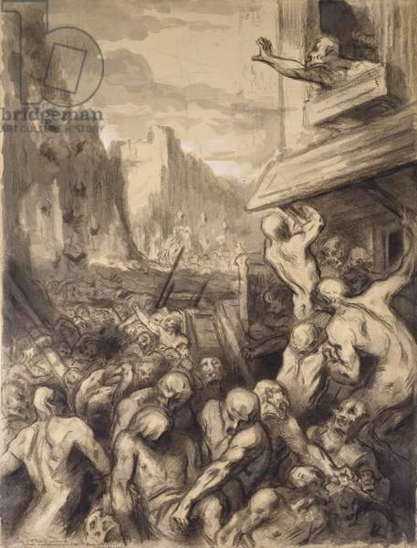 The Destruction of Sodom, c.1850 (w.c and gouache on paper)
