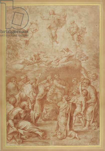 The Transfiguration of Christ (red chalk on paper)