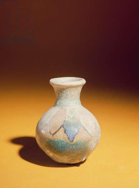 Glazed jar said to be from Iran, c.1300 BC (polychrome glazed terracotta)