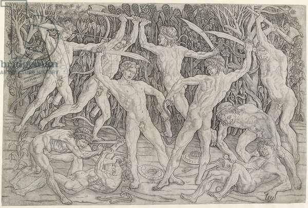 Battle of Nude Men, c. 1470 - 1475 (engraving)