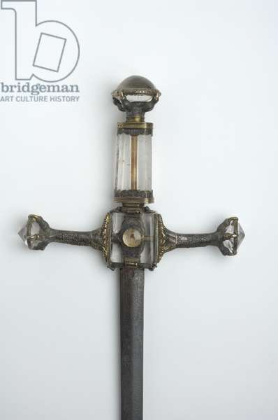 Henry VIII's Sword of State (metal & crystal) (detail of 114276)