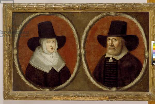 John Tradescant the Elder and his Wife Elizabeth, 1656 (oil on canvas)