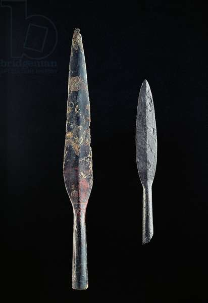 Two spearheads (iron)