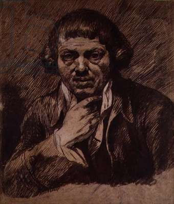 Self Portrait, c.1800 (brush and bistre on paper)