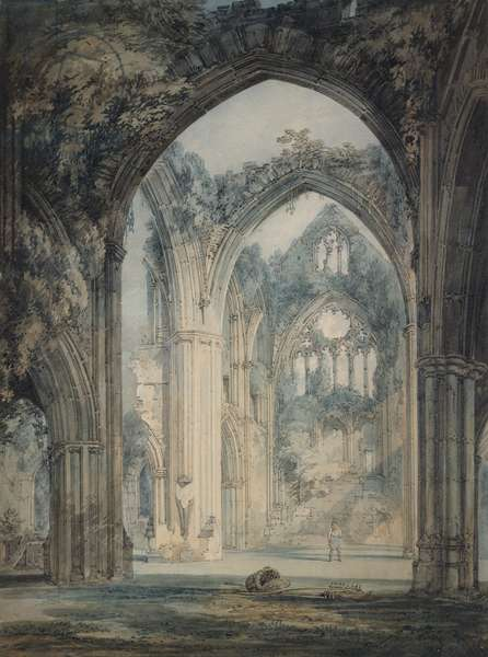 Transept of Tintern Abbey, Monmouthshire, c.1794 (w/c over graphite with pen & black ink on paper)