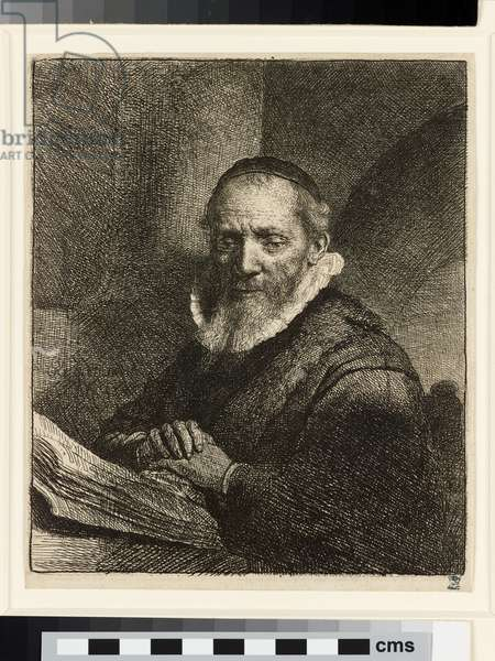 Portrait of Jan Cornelis Sylvius, preacher, 1633 (etching)