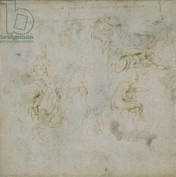 Study of Figures, c.1511 (pen & ink on paper)