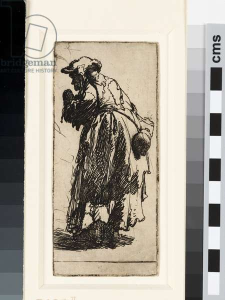 Old beggar woman with a gourd, c.1629 (etching)