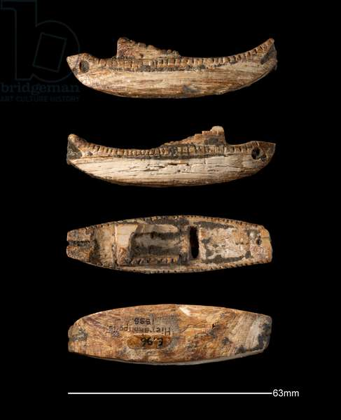 Model boat, Hierakonpolis, Early Dynastic Period (c. 2950 - c. 2575 BC) (carved ivory)