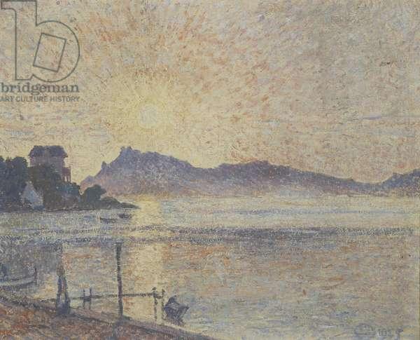 La Pointe de Cougoussa, Sunset, 1925 (oil on canvas)