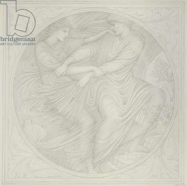 Orpheus Looks Back, 1872-75 (graphite on paper)