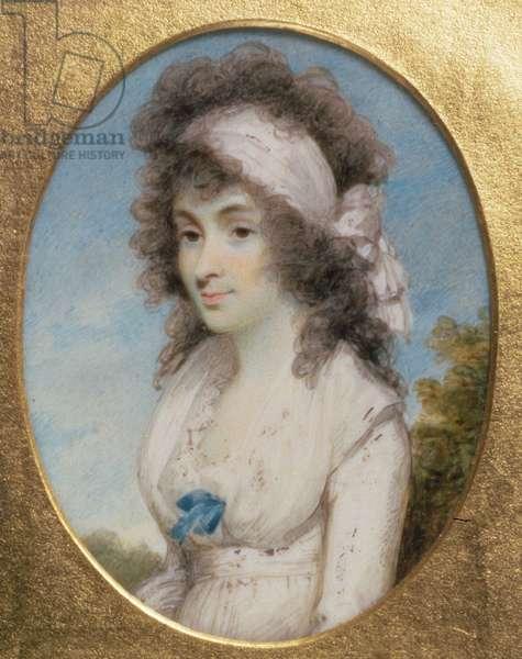 Portrait Miniature of Lydia or Elizabeth Hunt, c.1795 (w/c on ivory)