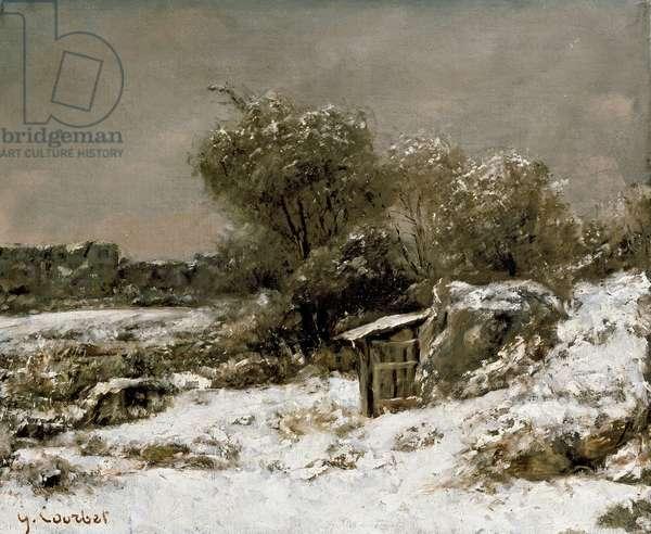 Winter Scene, 19th century (oil on canvas)