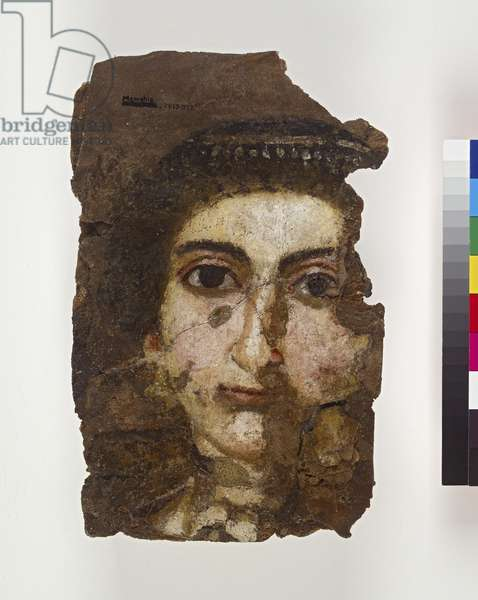 Mummy portrait of a young woman, probably 2nd-3rd century AD (encaustic on wood)