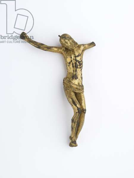 Figure of Christ on the cross (copper alloy, gold, gilded)