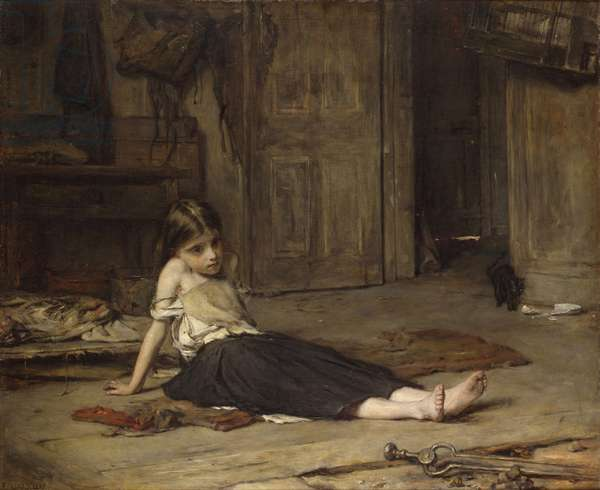 Girl by the Fireside, 1867 (oil on canvas)