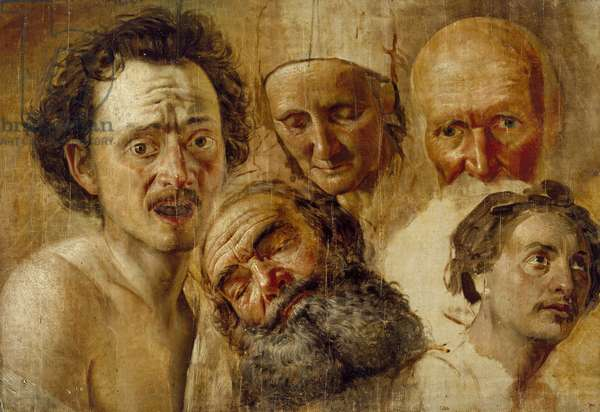 Study of Heads, c. 1830 (oil on board)