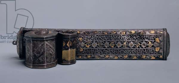 Pen case, 18th-19th century (steel overlaid with gold)