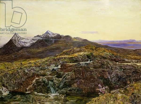 Cuillin Ridge, Skye from Sligechan, 19th century oil on canvas)